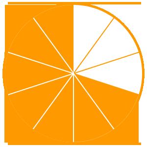 Maths Fractions Game Option - seven tenths