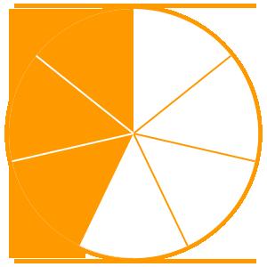 Maths Fractions Game Option - three sevenths