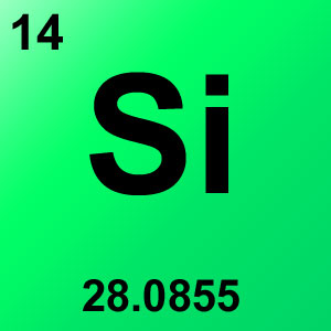 Periodic Table Elements Game Option - silicon