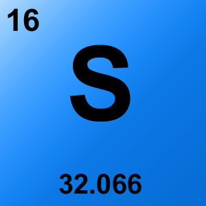 Periodic Table Elements Game Option - sulfur
