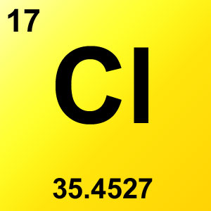 Periodic Table Element Game Option - chlorine