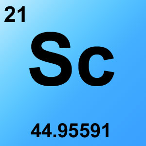 Periodic Table Element Game Option - scandium