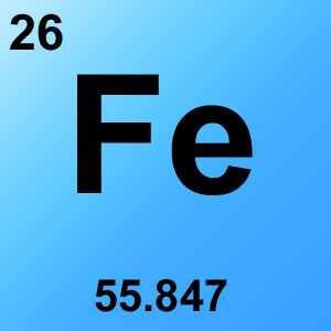 Periodic Table Elements Game Option - iron
