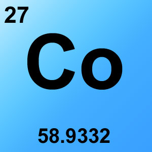 Periodic Table Elements Game Option - cobalt