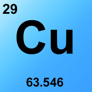 Periodic Table Elements Game Option - copper
