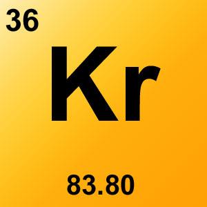 Periodic Table Elements Game Option - krypton