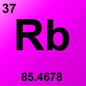 Periodic Table Elements Game Option - rubidium