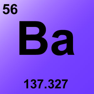Periodic Table Elements Game Option - barium