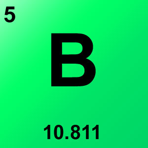 Periodic Table Elements Game Option - boron