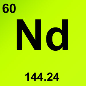 Periodic Table Elements Game Option - neodymium