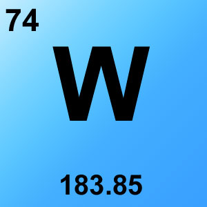 Periodic Table Elements Game Option - tungsten