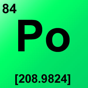 Periodic Table Elements Game Option - polonium