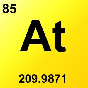 Periodic Table Elements Game Option - astatine
