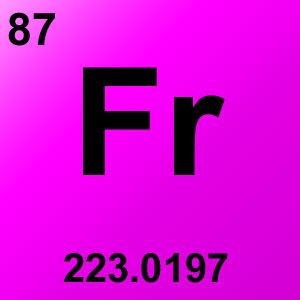 Periodic Table Element Game Option - francium