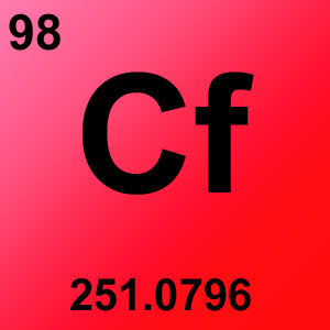 Periodic Table Elements Game Option - californium